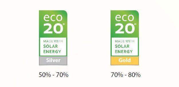 ECO20® el sello que certifica que el origen de la energía utilizada es renovable