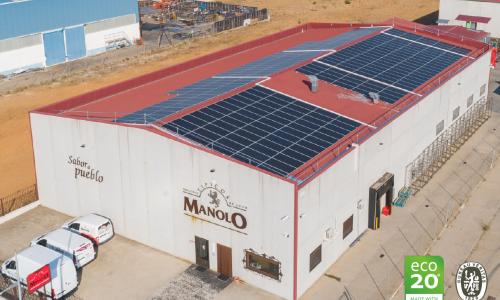 Embutidos Manolo apuesta por la producción sostenible con energía solar y ya es la primera cárnica española con el sello ECO20®